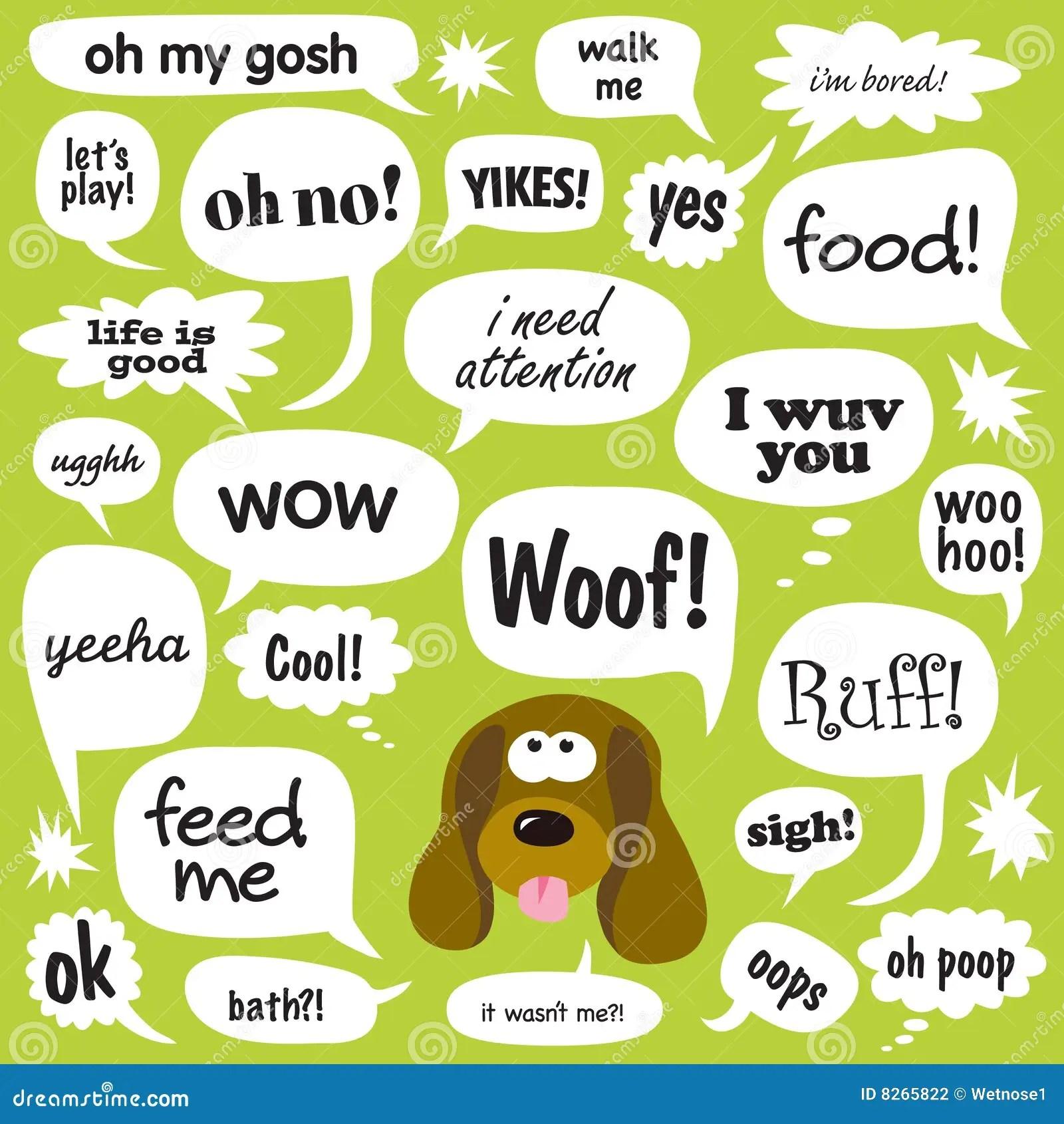 Dog Talk Stock Vector Illustration Of Dogie Card