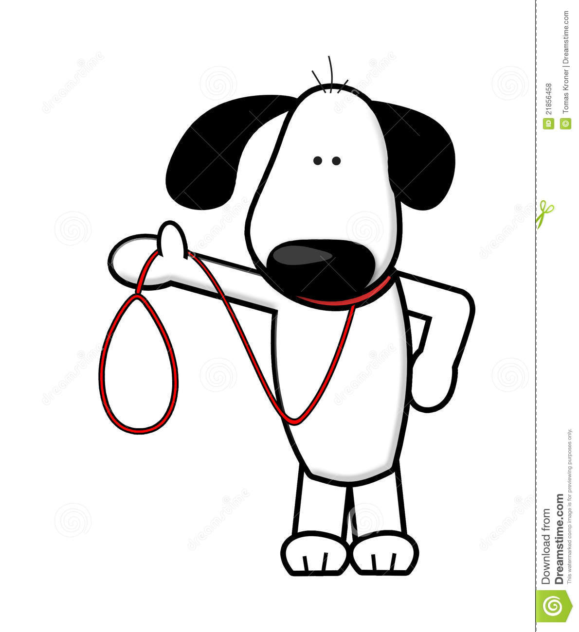 Dog Walking Cartoon Royalty Free Stock Photos