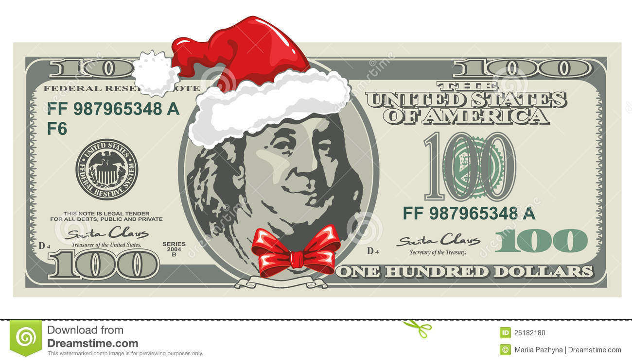Dollar Bill For Christmas Stock Photo Image 26182180