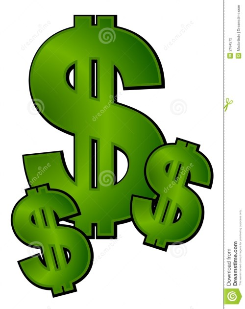 small resolution of an isolated cash and money illustration with 3 dollar signs in rich gradient green colors