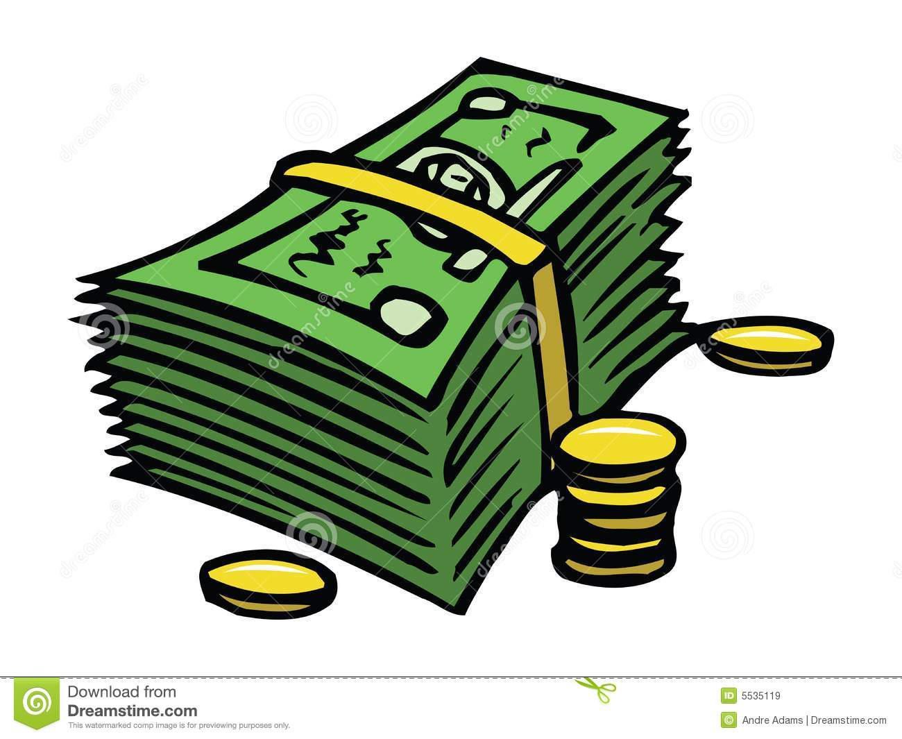 Dollars And Cents Stock Illustration Illustration Of Rich