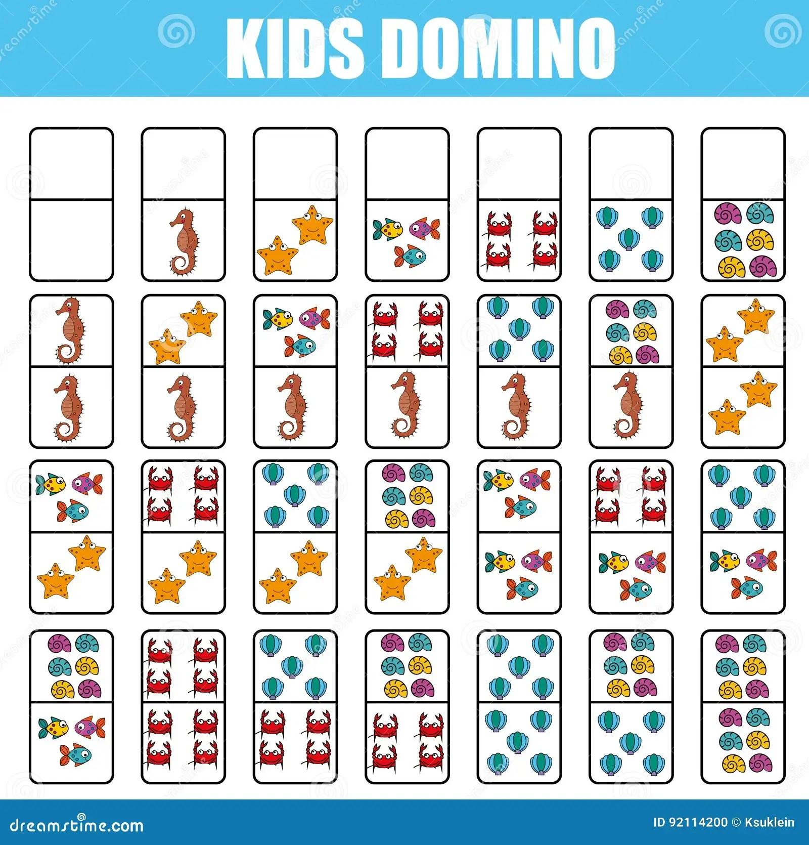 Domino Pour Des Enfants Jeu Educatif D Enfants Activite
