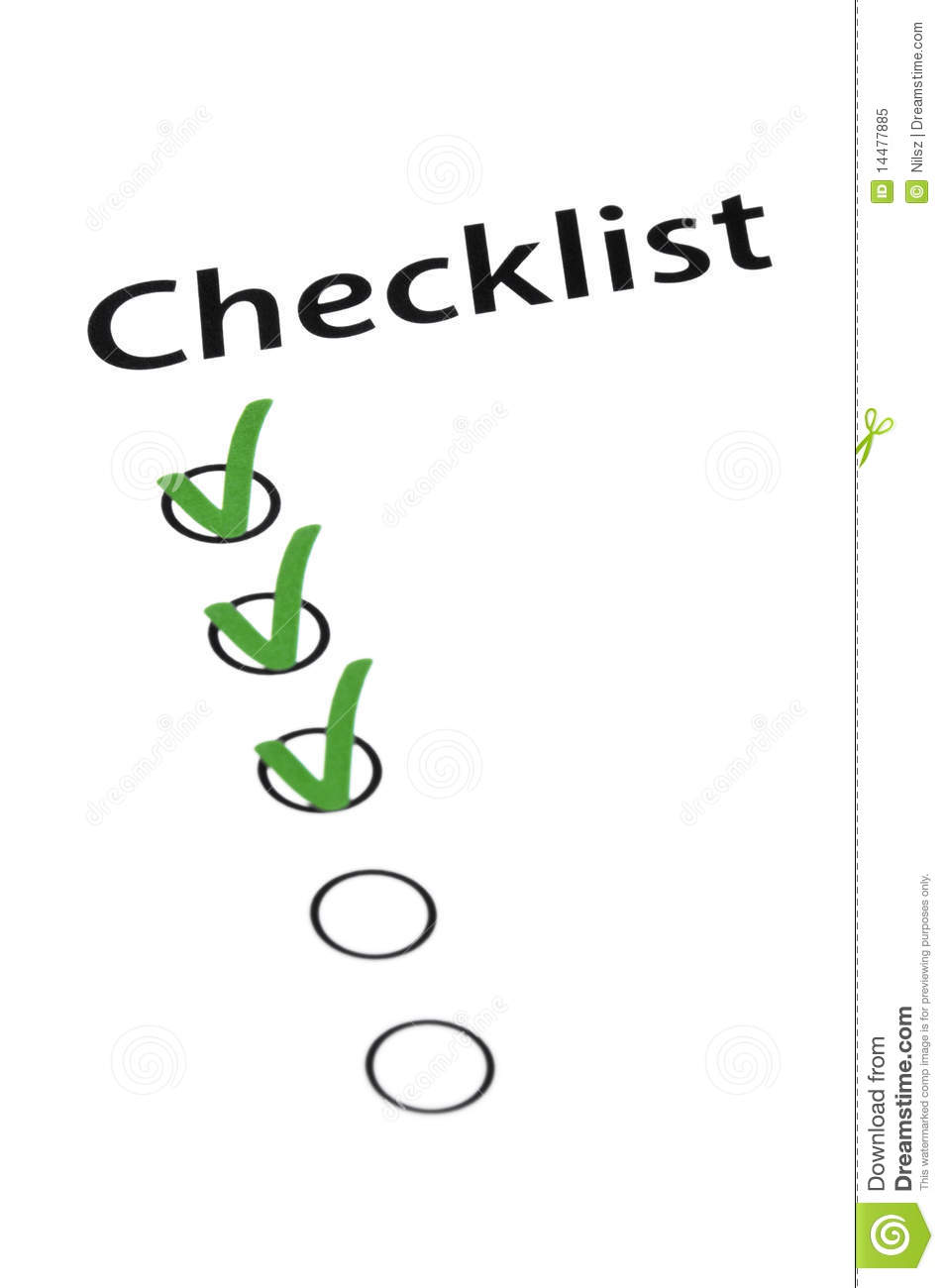 Don't Forget The Checklist Royalty Free Stock Photo