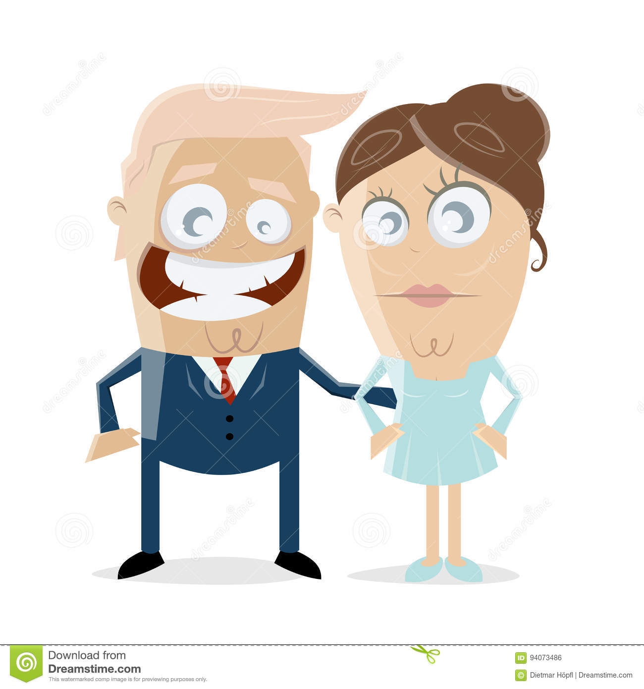 hight resolution of clipart of donald trump with his wife