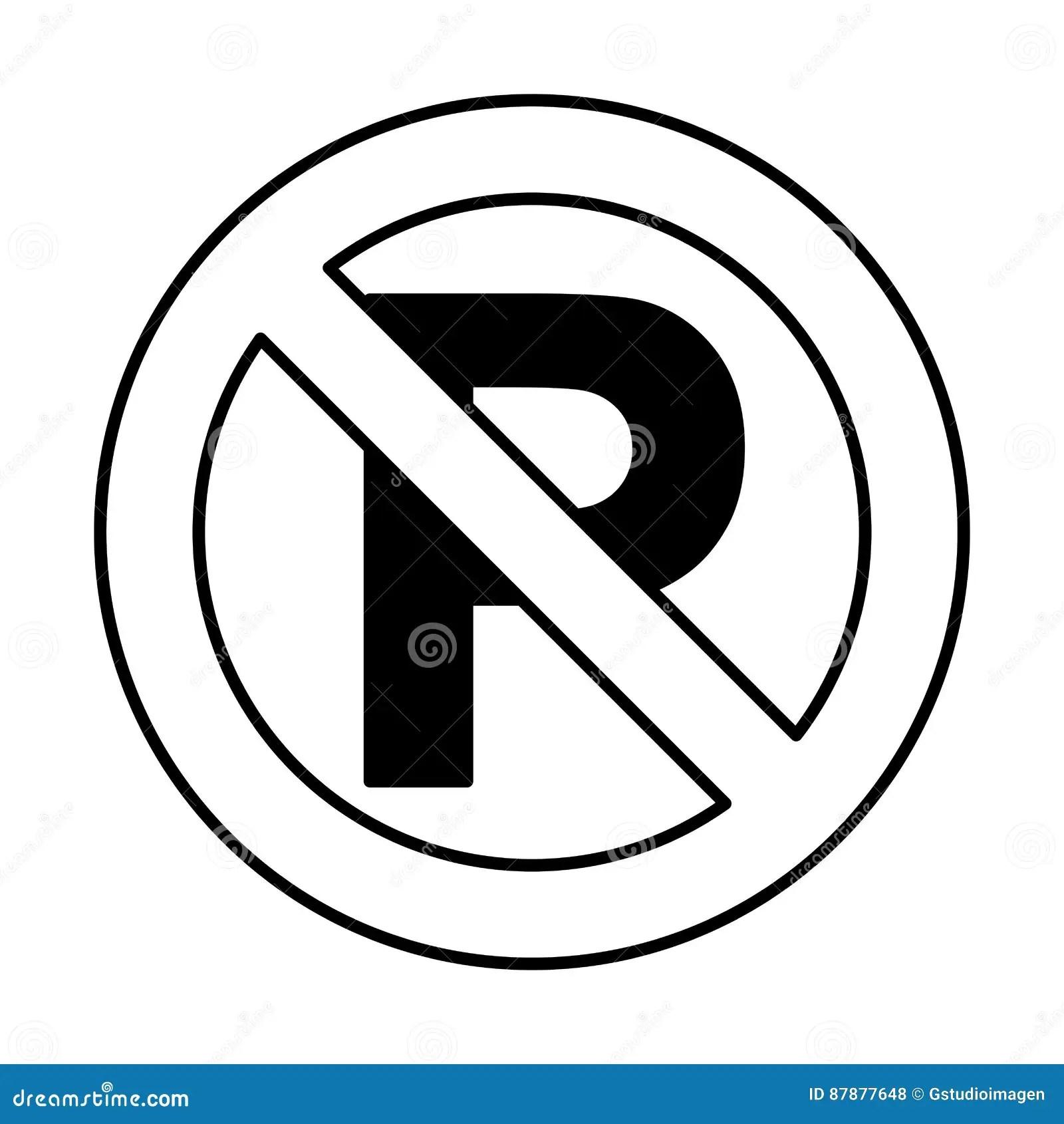 Dont Parking Traffic Sign Stock Vector Illustration Of