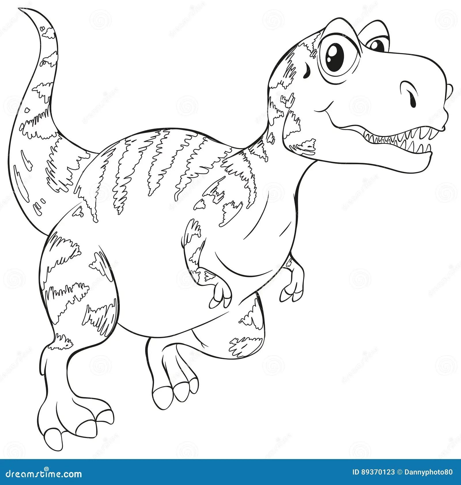 Doodle Animal For T Rex Dinosaur Stock Illustration