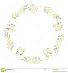 Doodle Berry And Leaf Circle Frame On A Black Background Wreath Of Golden Leaves Ready Template For Design Postcards Printing Stock Illustration Illustration of border crown: 119929400