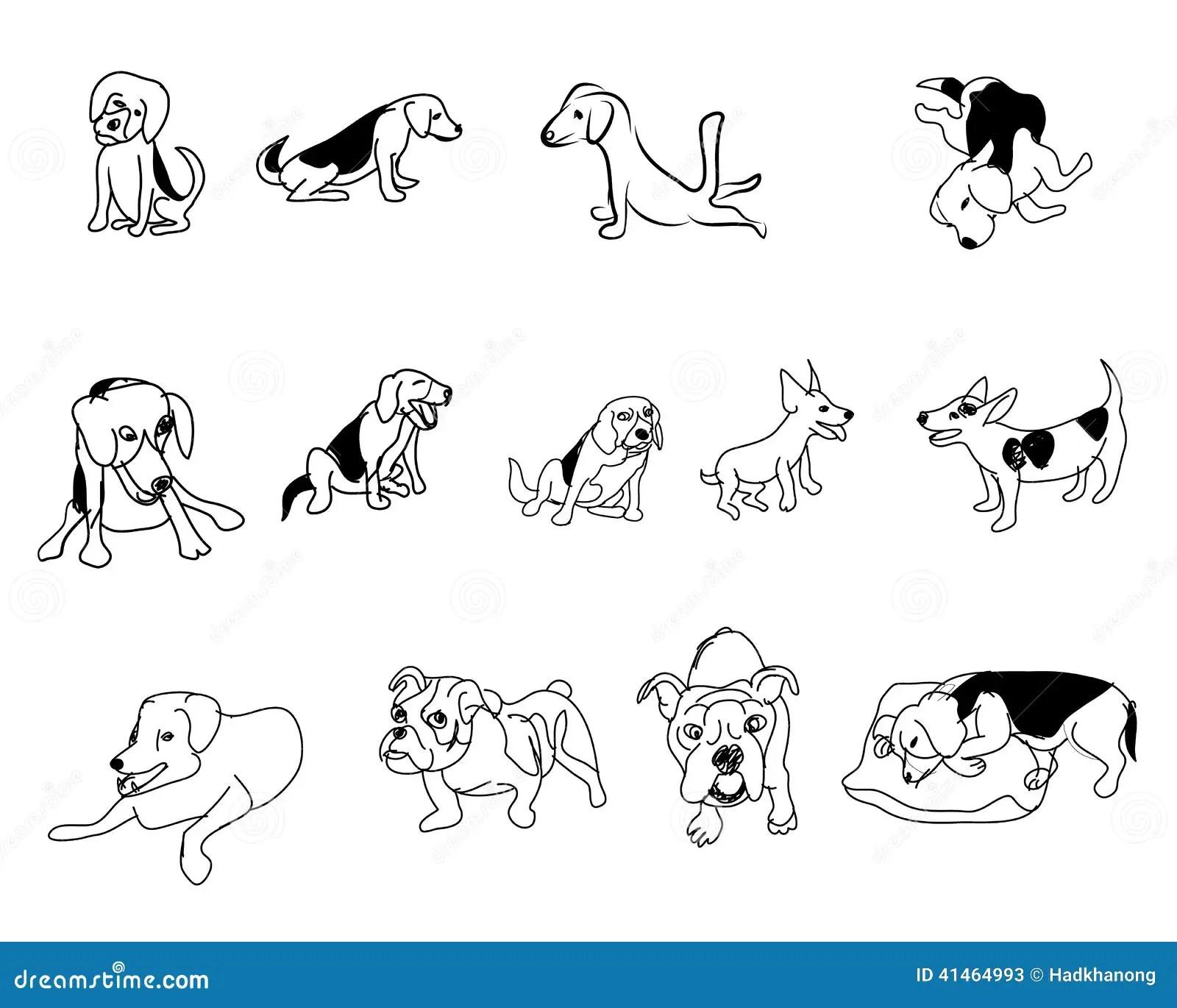 Doodle Drawing Of Dog Stock Illustration Illustration Of