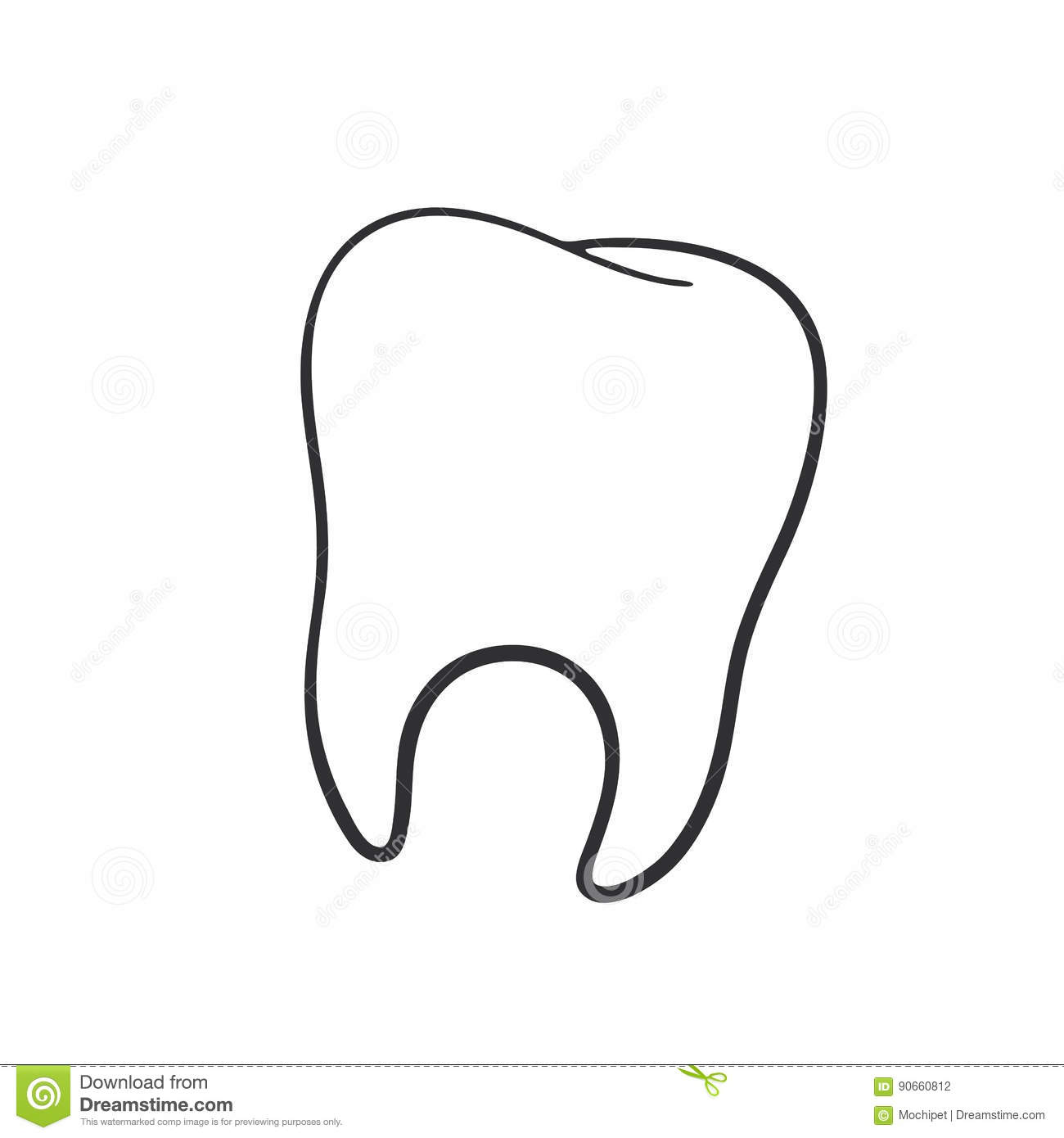 Image Of The Human Tooth Royalty Free Stock Photography