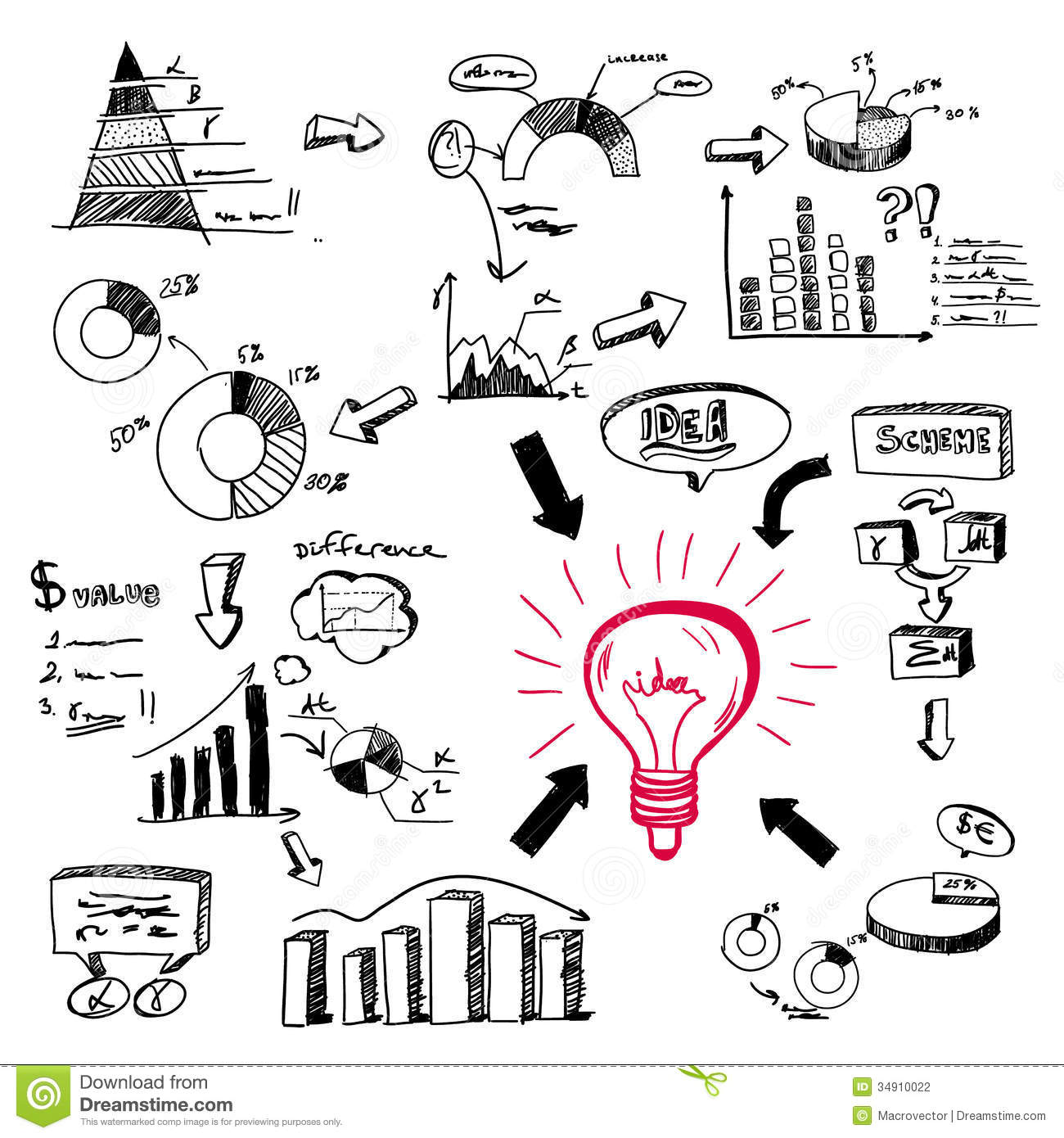 Doodle Infographics Stock Vector Illustration Of