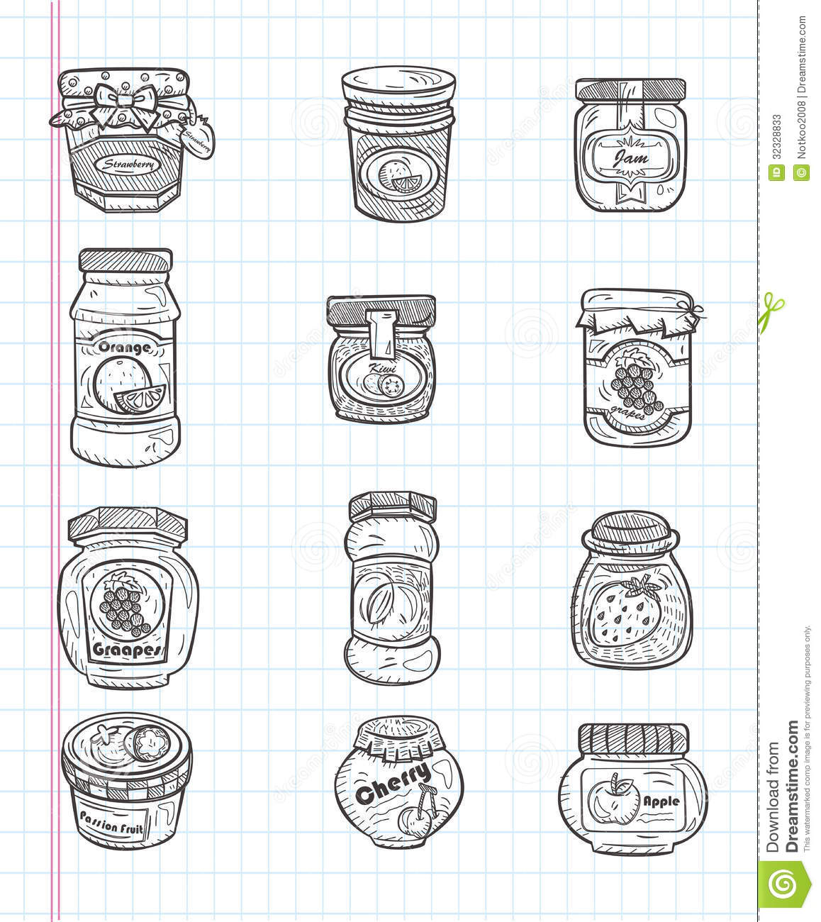 Doodle Jam Icons Stock Photos
