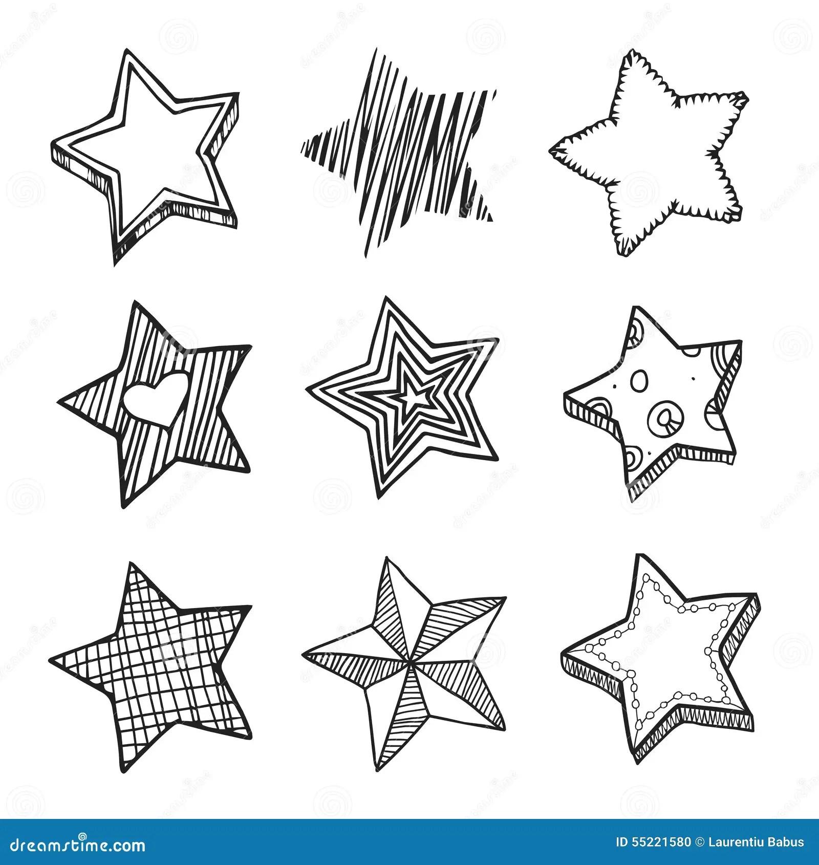 Doodle Stars Stock Illustration Illustration Of