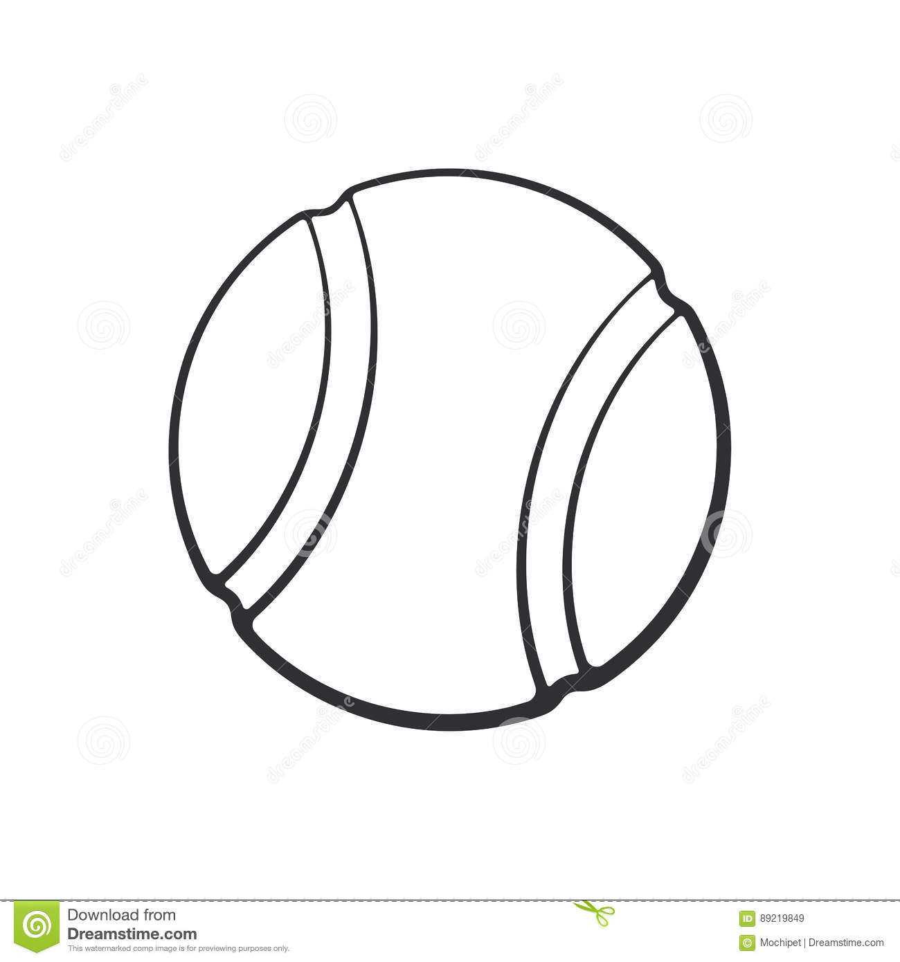 Doodle Of Tennis Ball Stock Vector Illustration Of Design