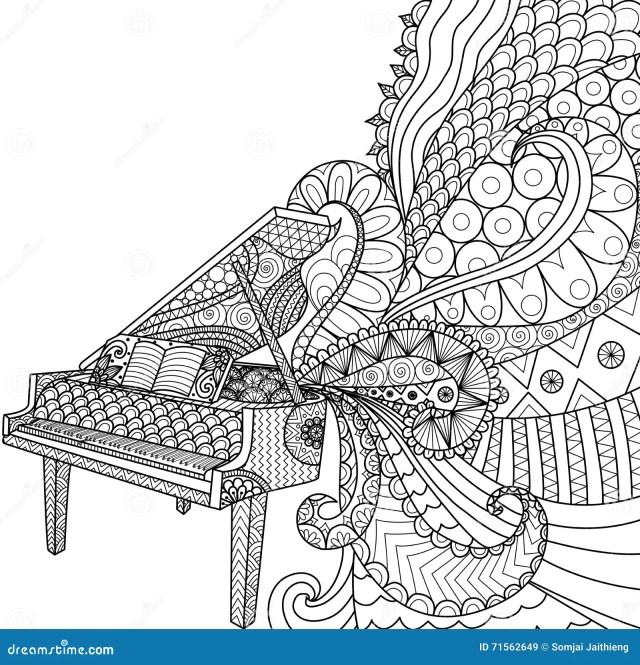 Piano Coloring Stock Illustrations – 29 Piano Coloring Stock