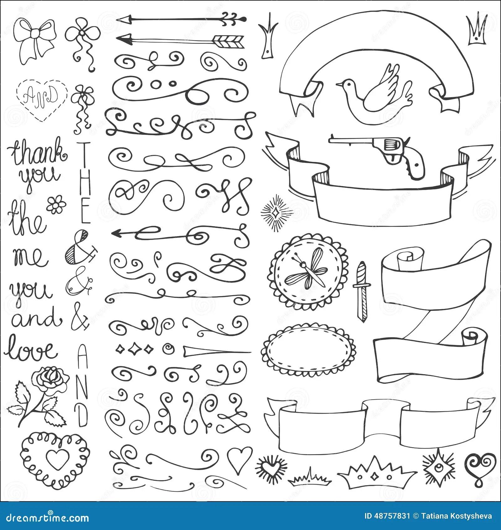 Doodle Arrows Background