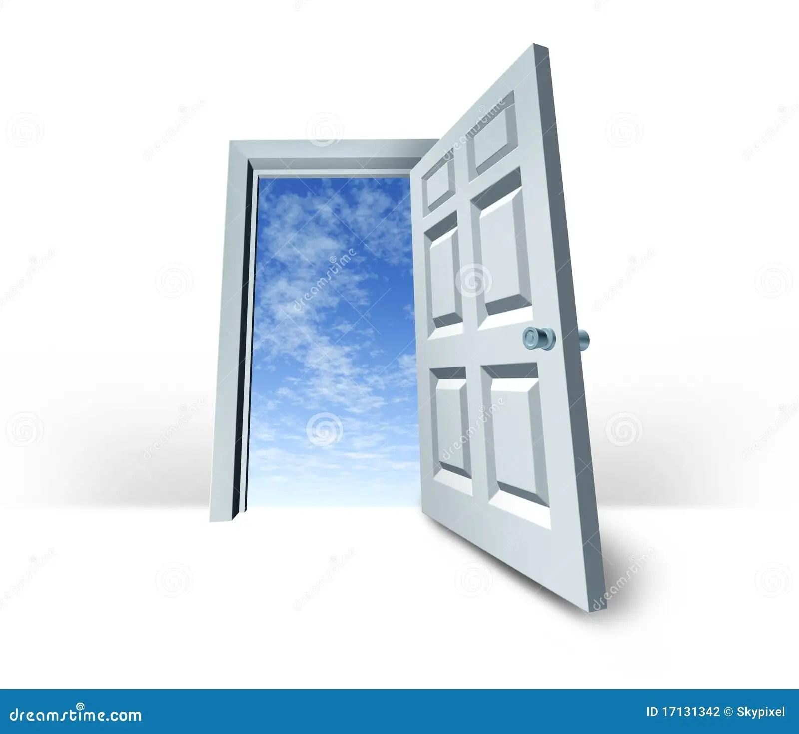 Door Sky Is The Limit Doorway Success Stock Illustration - Illustration of white. hinge: 17131342