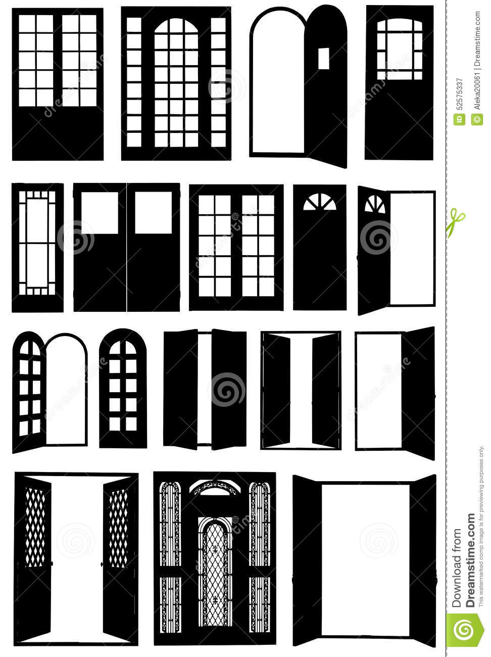Doors of different types stock vector Image of iron