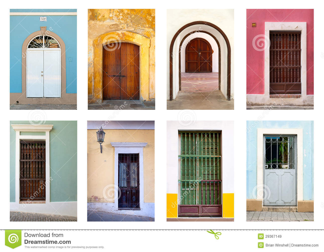 Royalty Free Stock Images Doors and Windows of Puerto Rico Image 29367149