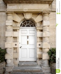 Doorway Of A London Town House Stock Photography - Image ...