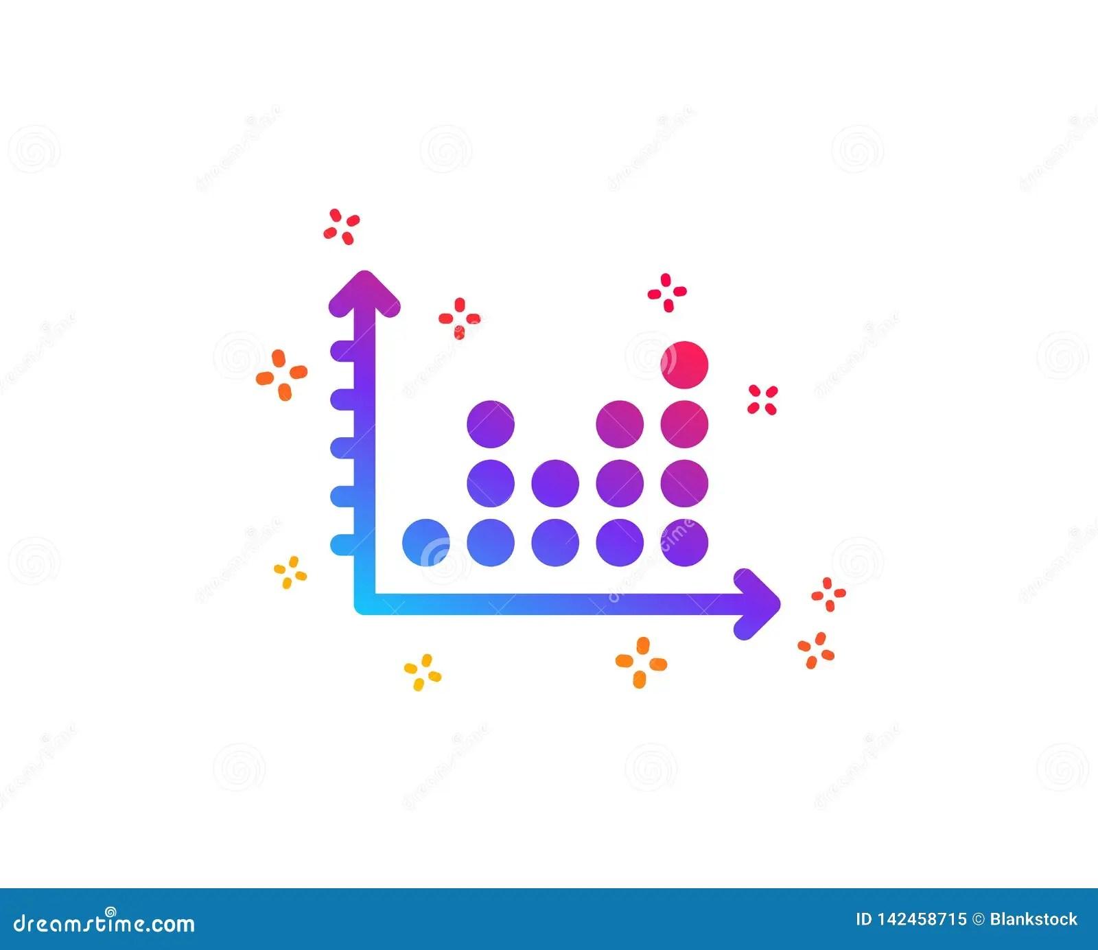 Dot Plot Graph Icon Presentation Chart Sign Vector Stock