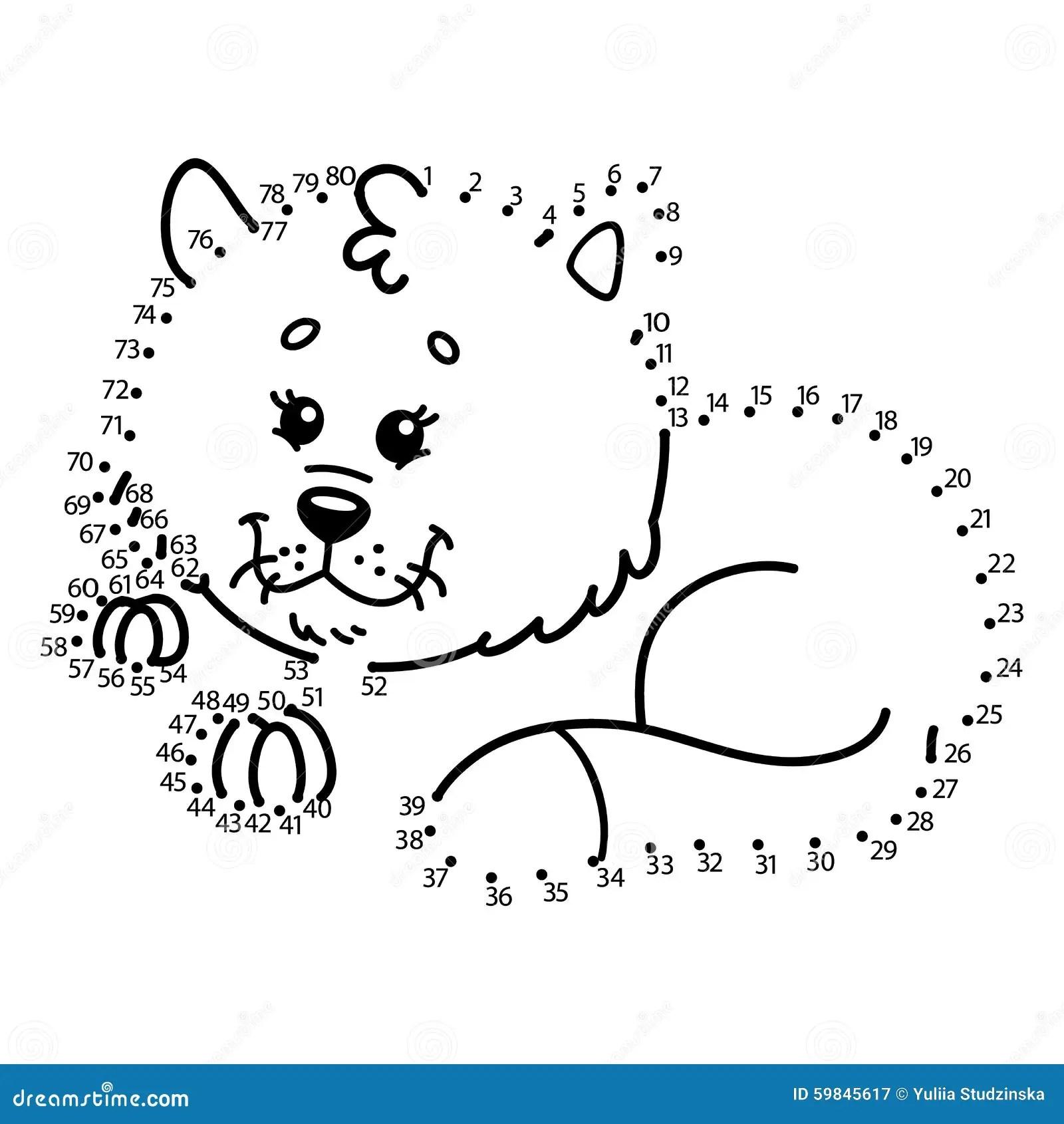 Dot To Dot Cat Game Stock Vector