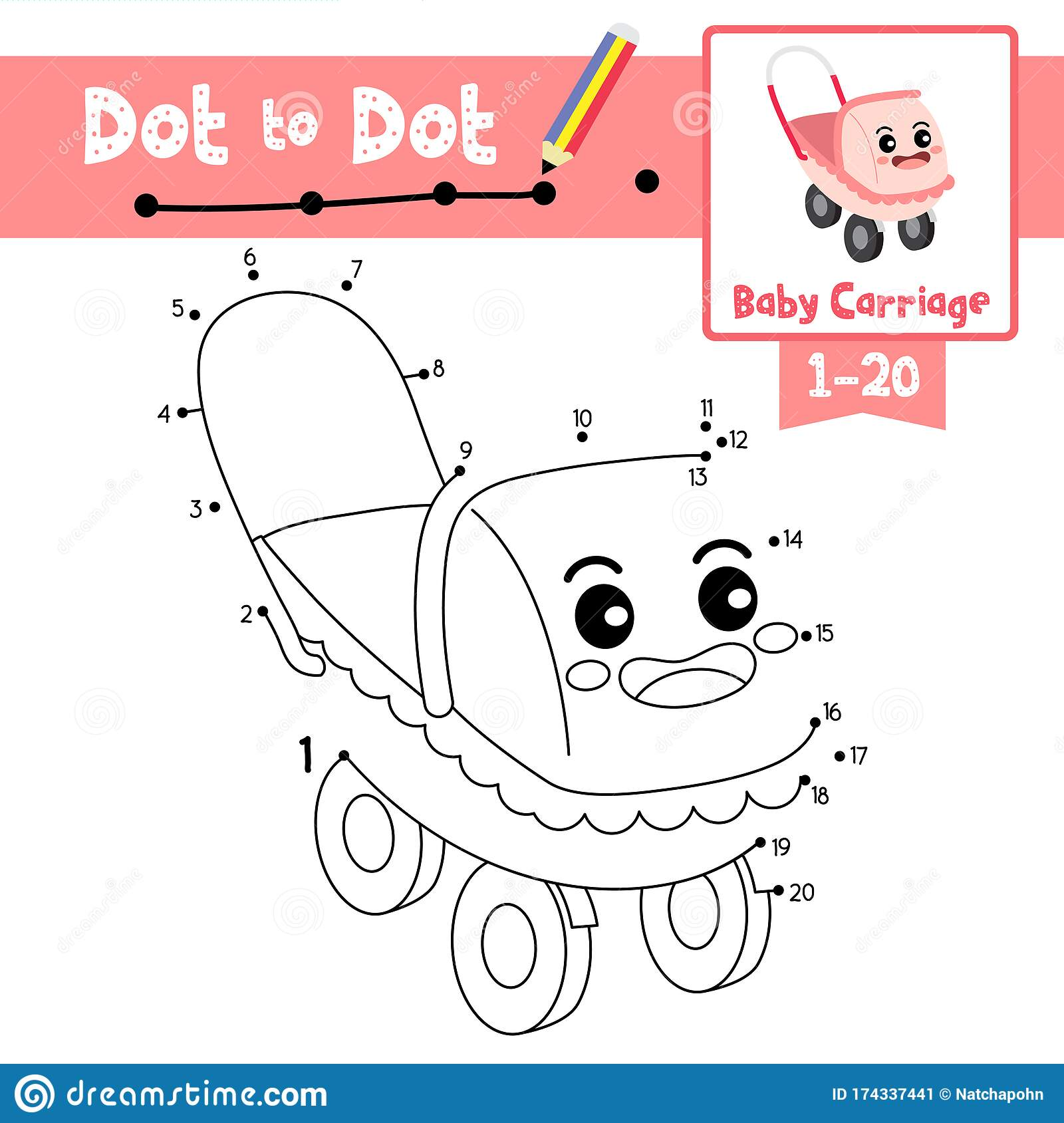 Dot To Dot Educational Game And Coloring Book Baby