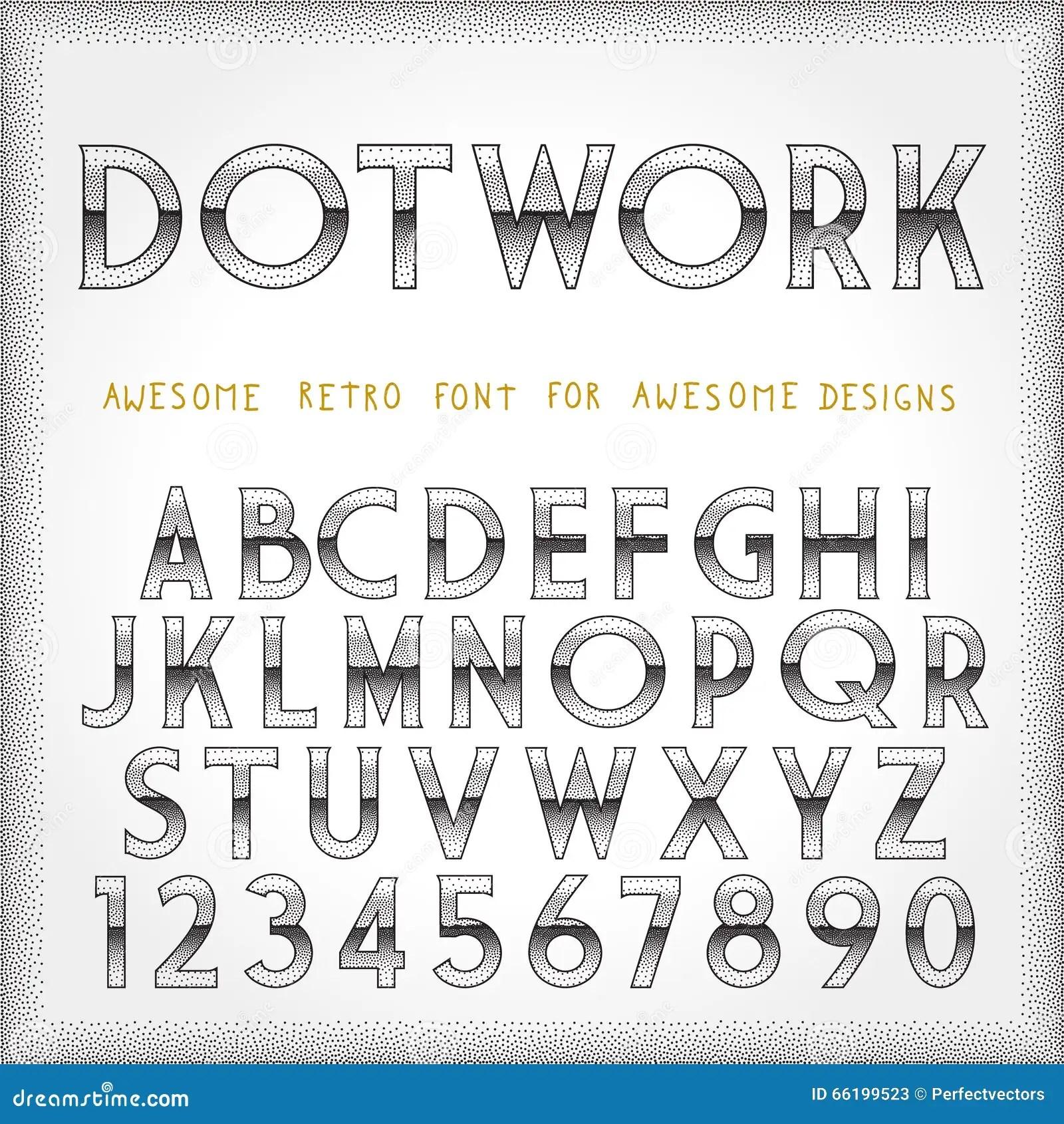 Light Tattoo Font Vector Illustration