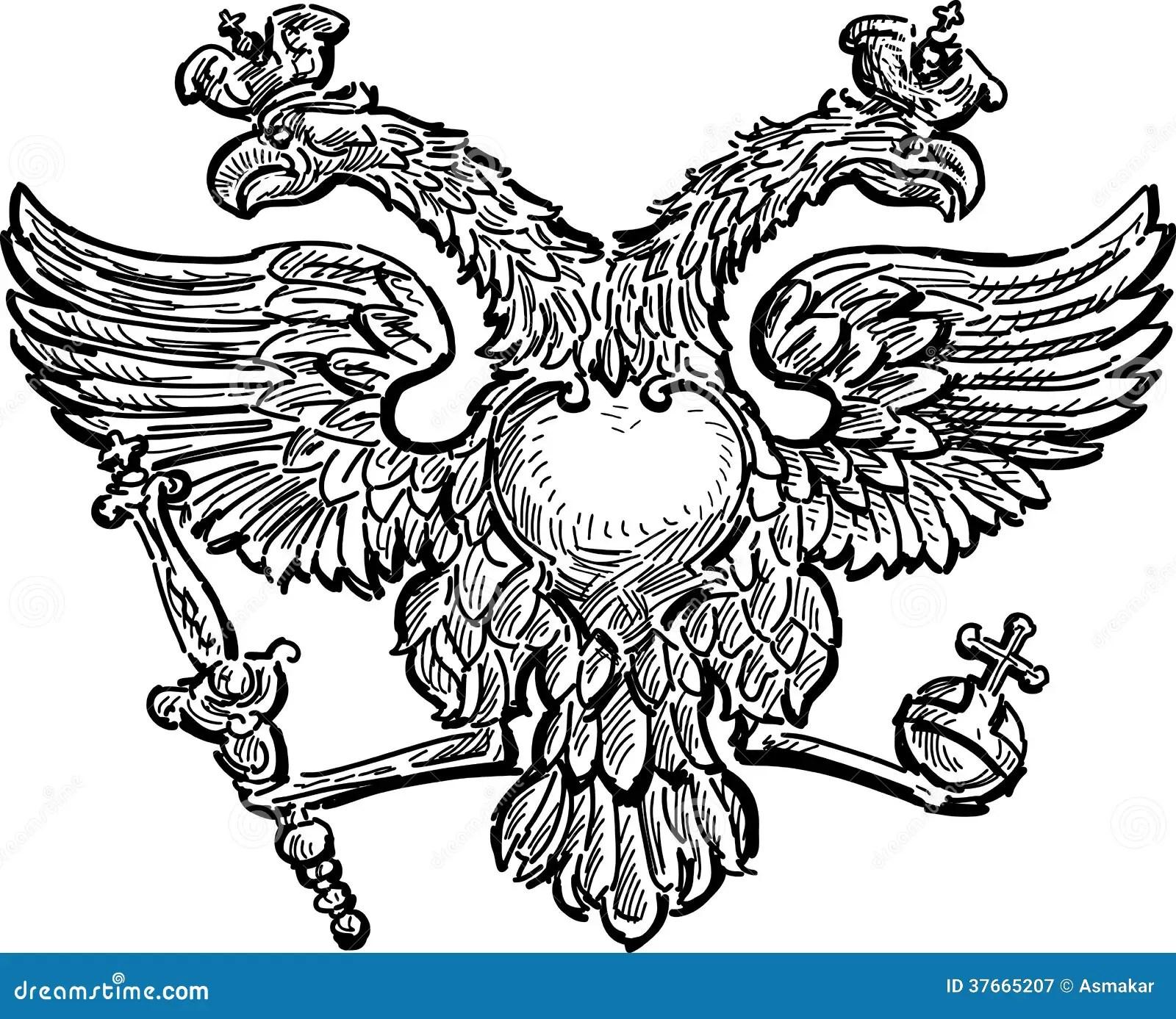 Double-headed eagle stock vector. Illustration of bird