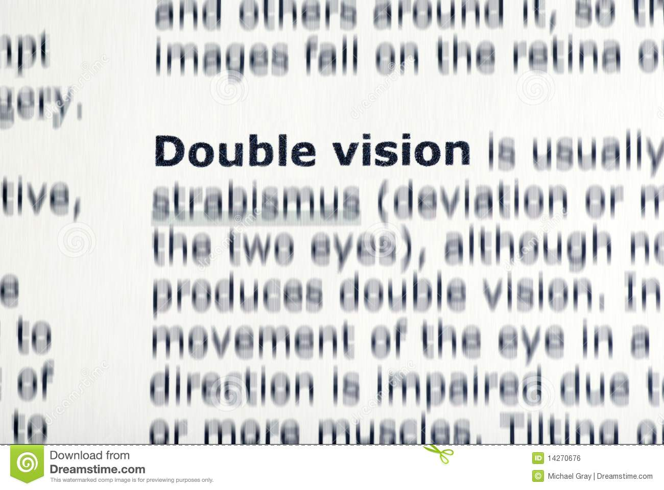 Double Vision Royalty Free Stock Image