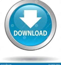 download button web icon blue [ 1328 x 1300 Pixel ]