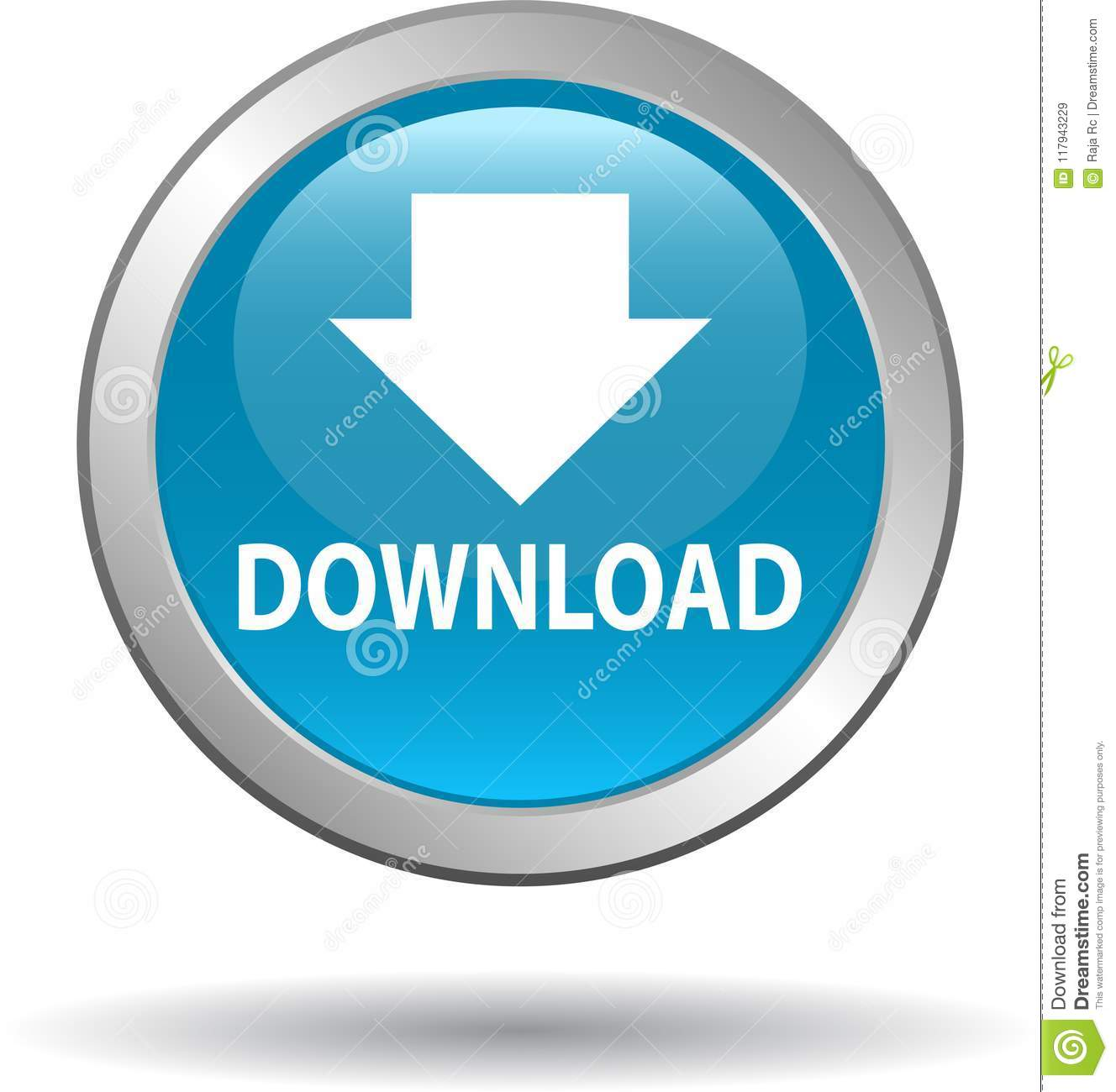 hight resolution of download button web icon blue