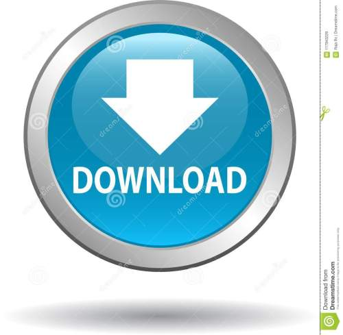 small resolution of download button web icon blue