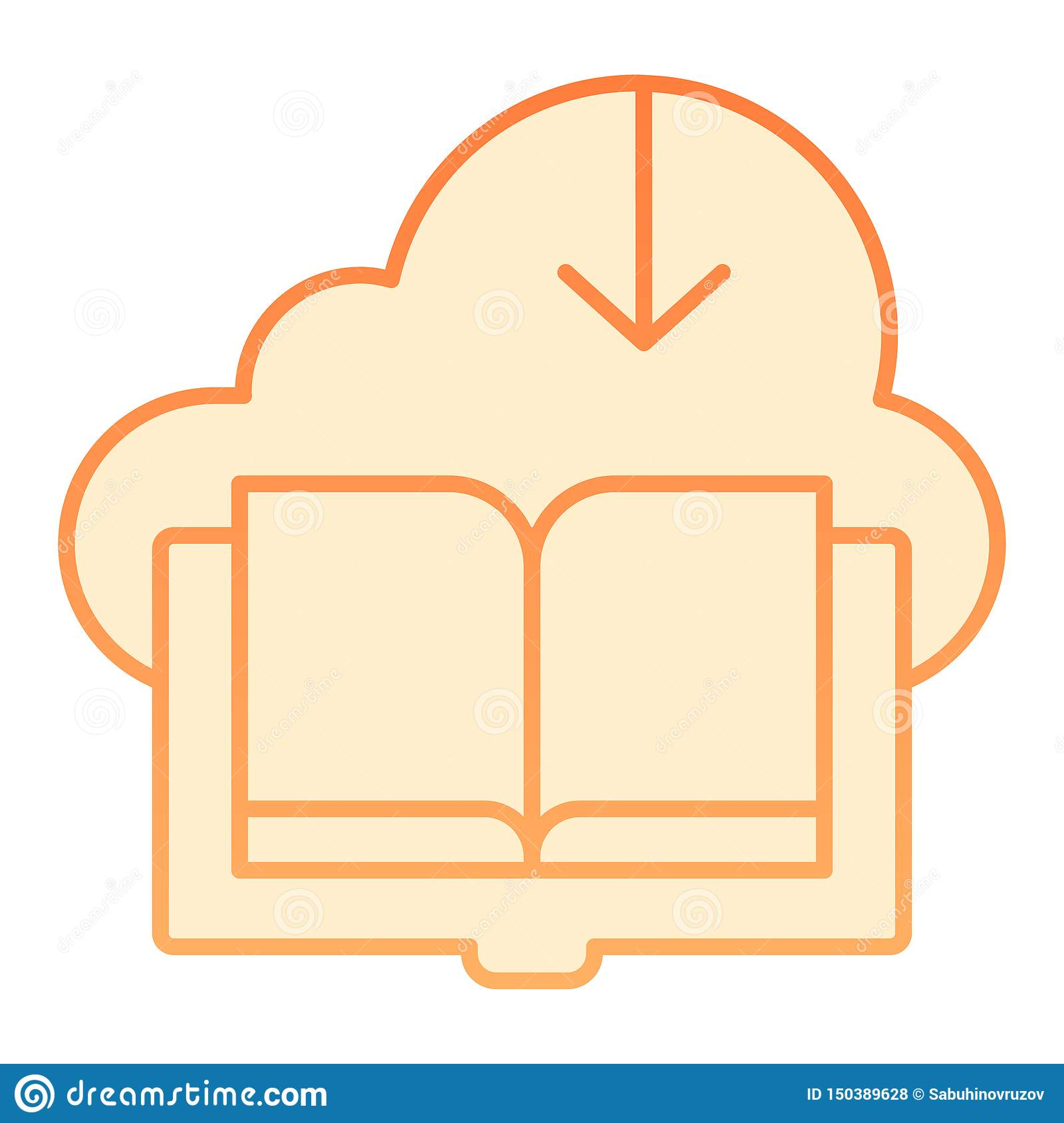 Download high quality ebook icon clip art from our collection of 66000000 clip art graphics. Downloaded Book Flat Icon Cloud With Book Orange Icons In Trendy Flat Style Save Ebook Gradient Style Design Designed Stock Vector Illustration Of Arrow Paper 150389628
