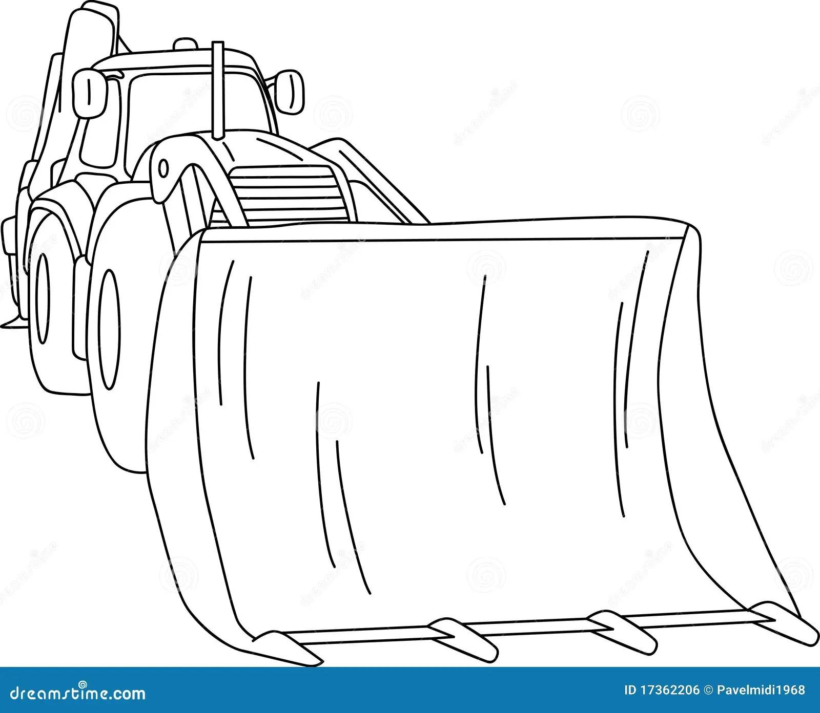 Dozer Stock Vector Illustration Of Iron Line