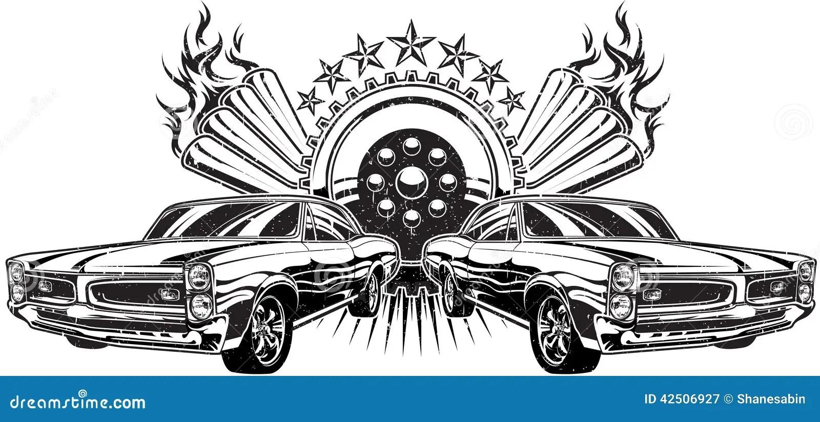 Drag Race Illustration stock vector. Illustration of