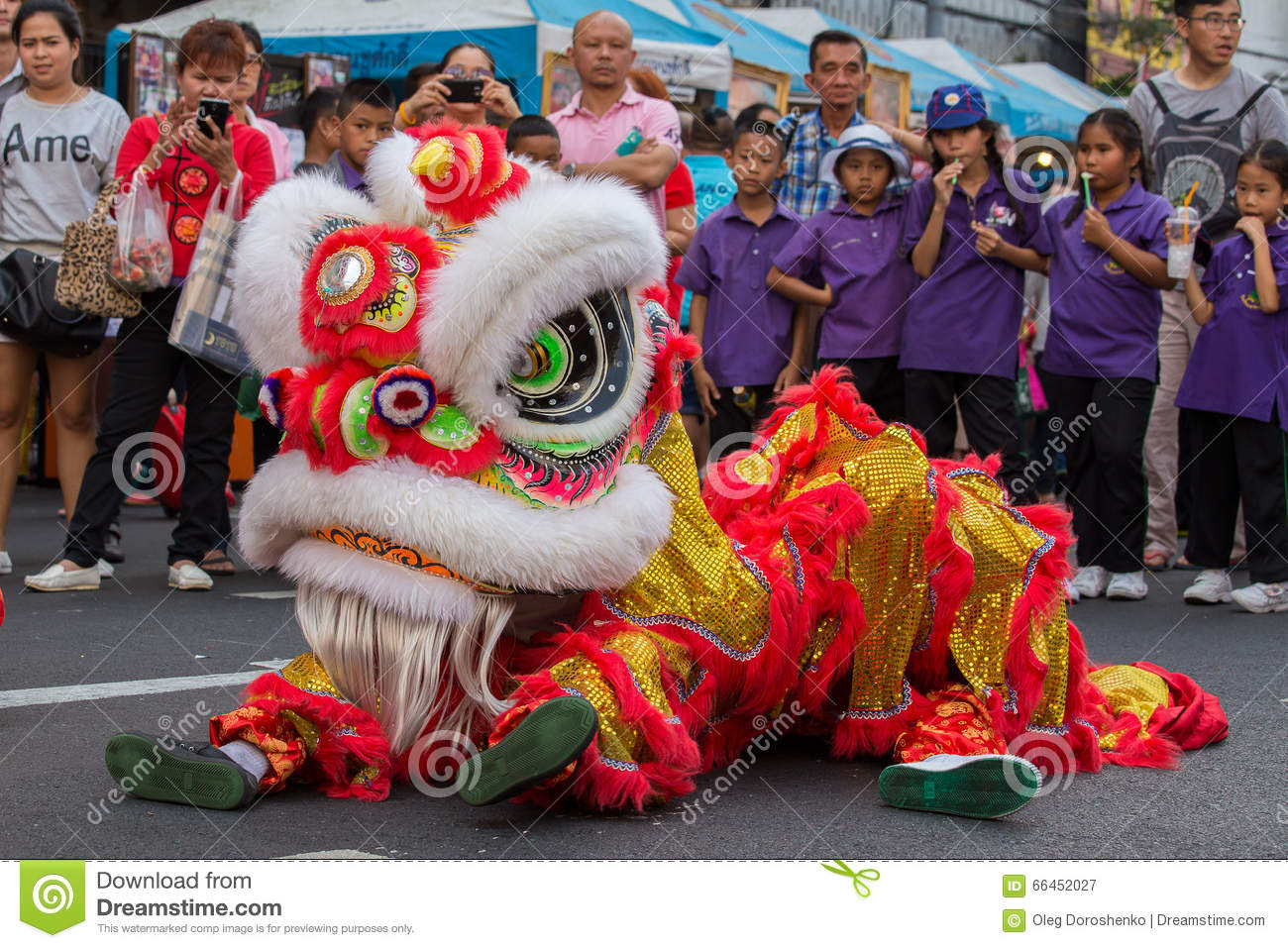 dragon dance during the
