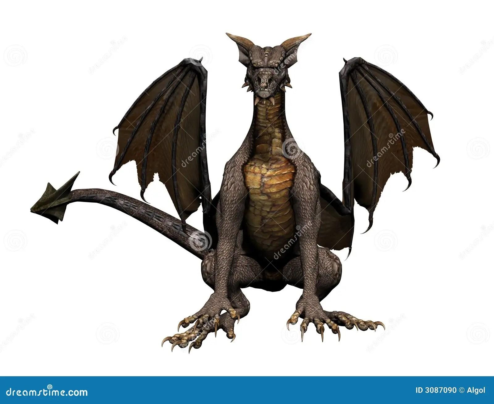 Dragon Sitting Stock Photo  Image 3087090