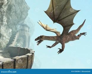 Dragon Stone Medieval Castle Balcony Stock Illustration Illustration of castle fantasy: 61206286