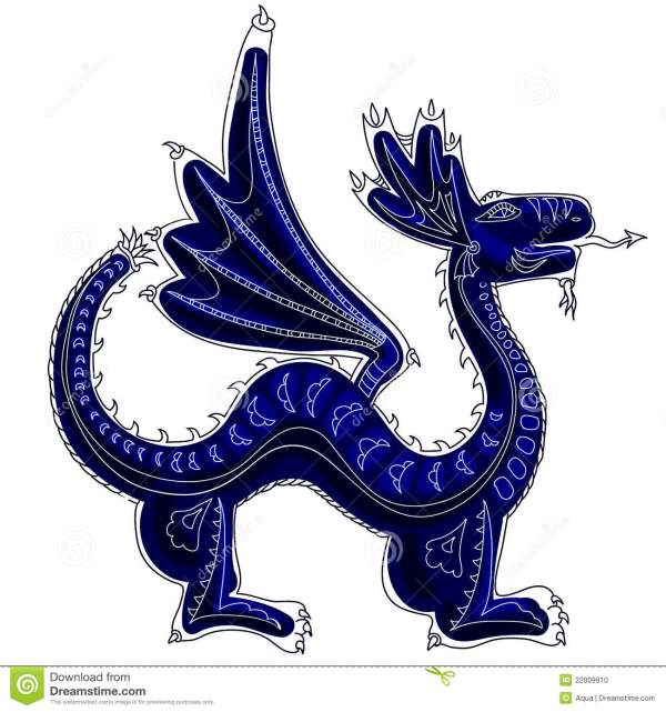 Dragon - Symbol Of Coming Year Stock