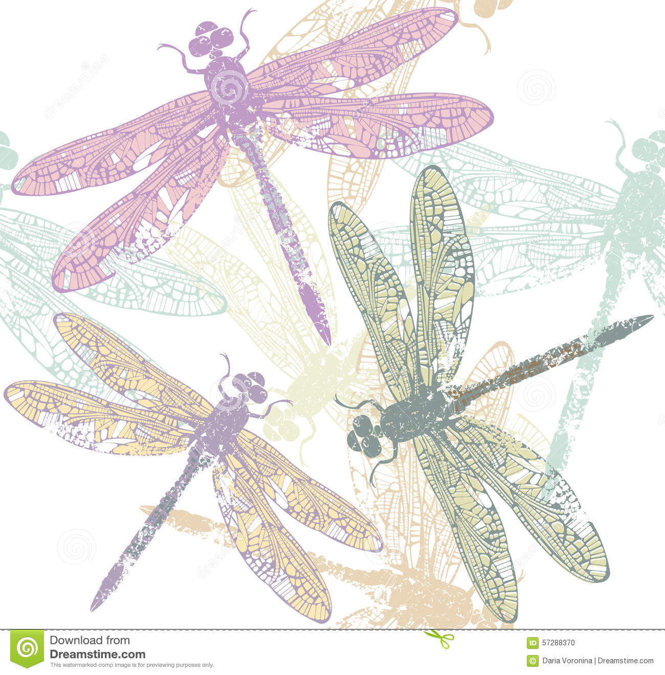 dragonfly s seamless pattern