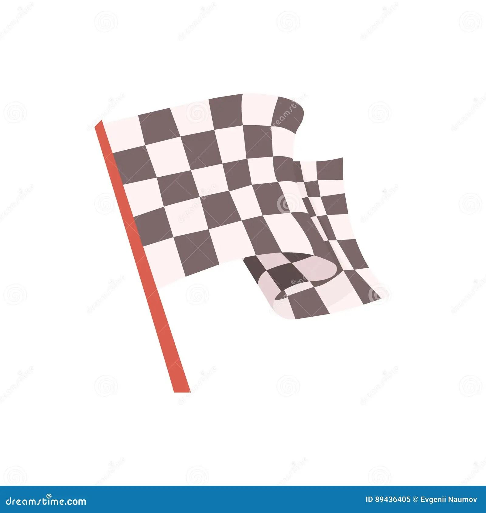 drapeau a carreaux pour le signal de depart de course emballant la piece relative d