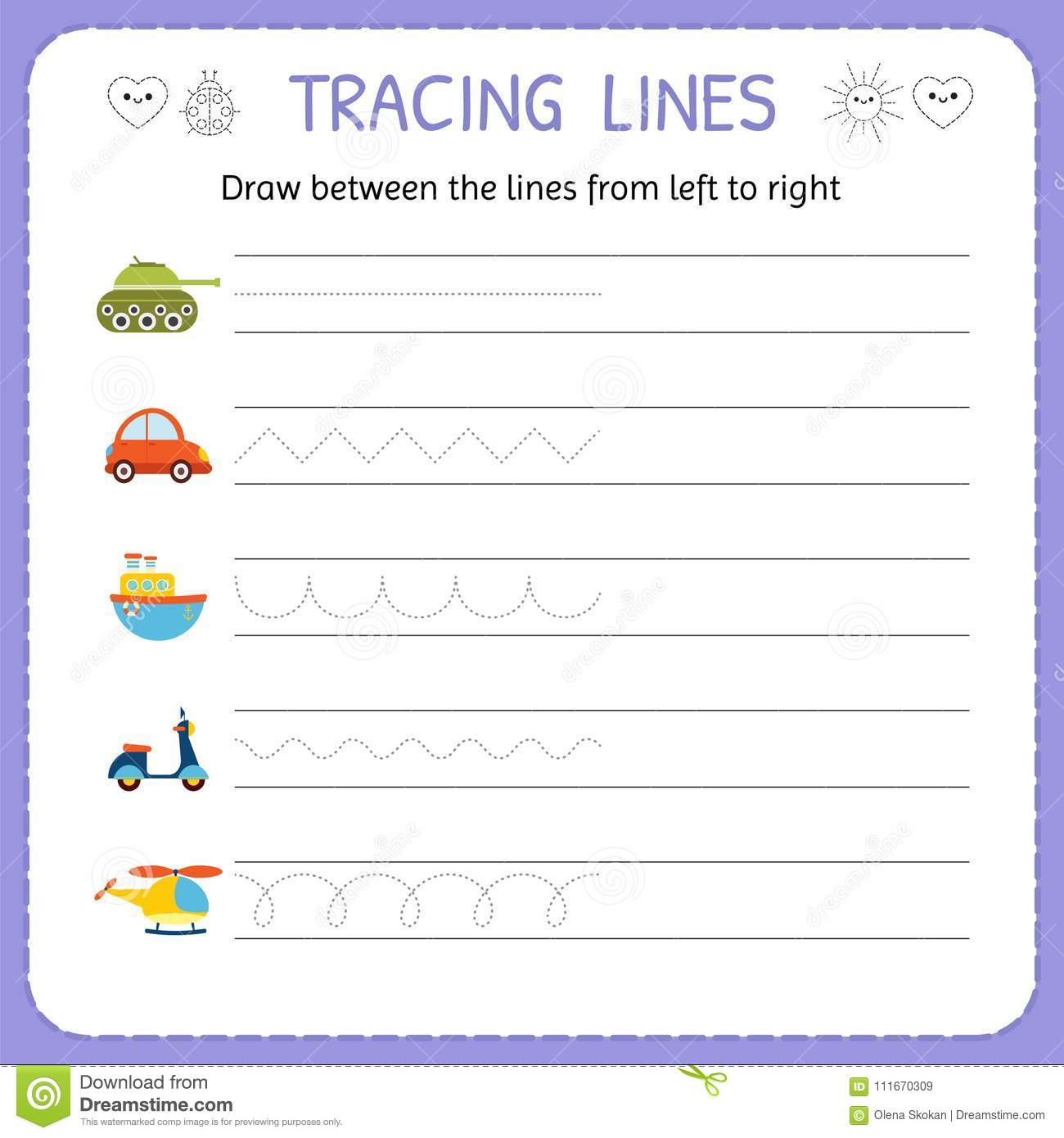 Left And Right Worksheet Preschool