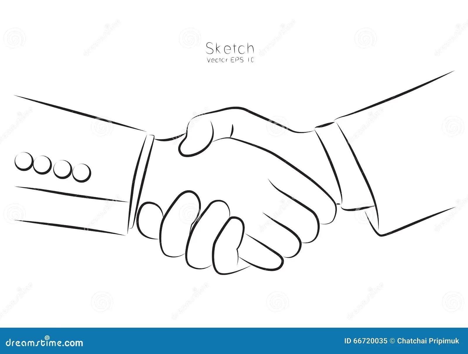 Hand Shake Business Vector Logo Cartoon Vector