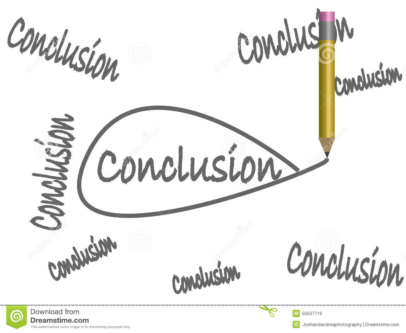 Draw Your Own Conclusions stock vector. Image of critical