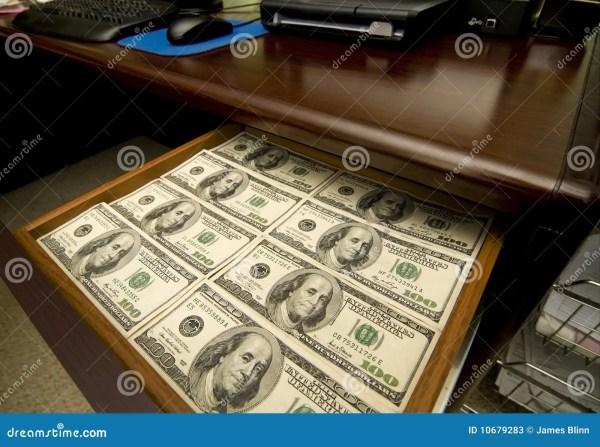 Drawer With Money Royalty-Free Stock Photo | CartoonDealer ...