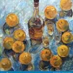 Drawing Of Big Oranges And Bottle Stock Illustration Illustration Of Conceptual Background 122996776