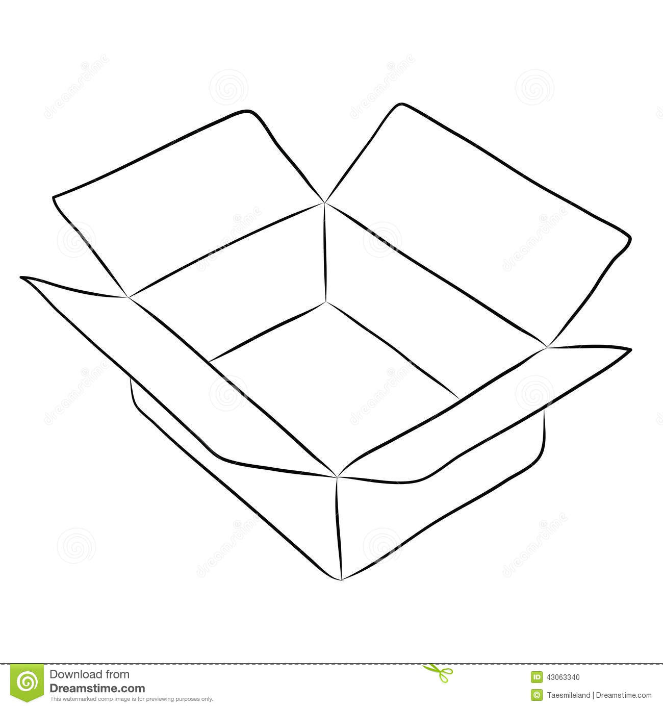 Drawing Of Box Stock Vector