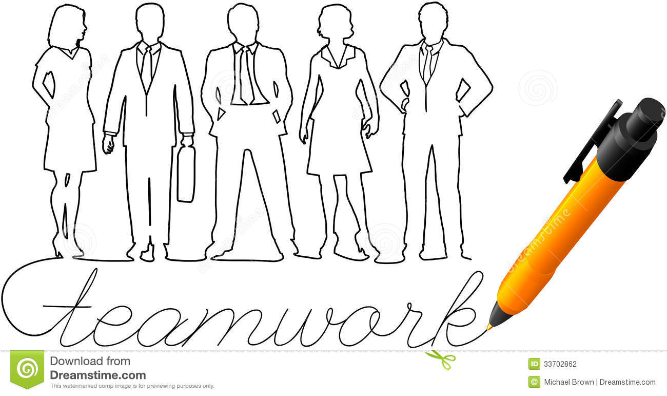Drawing Business Team Work People Stock Photography