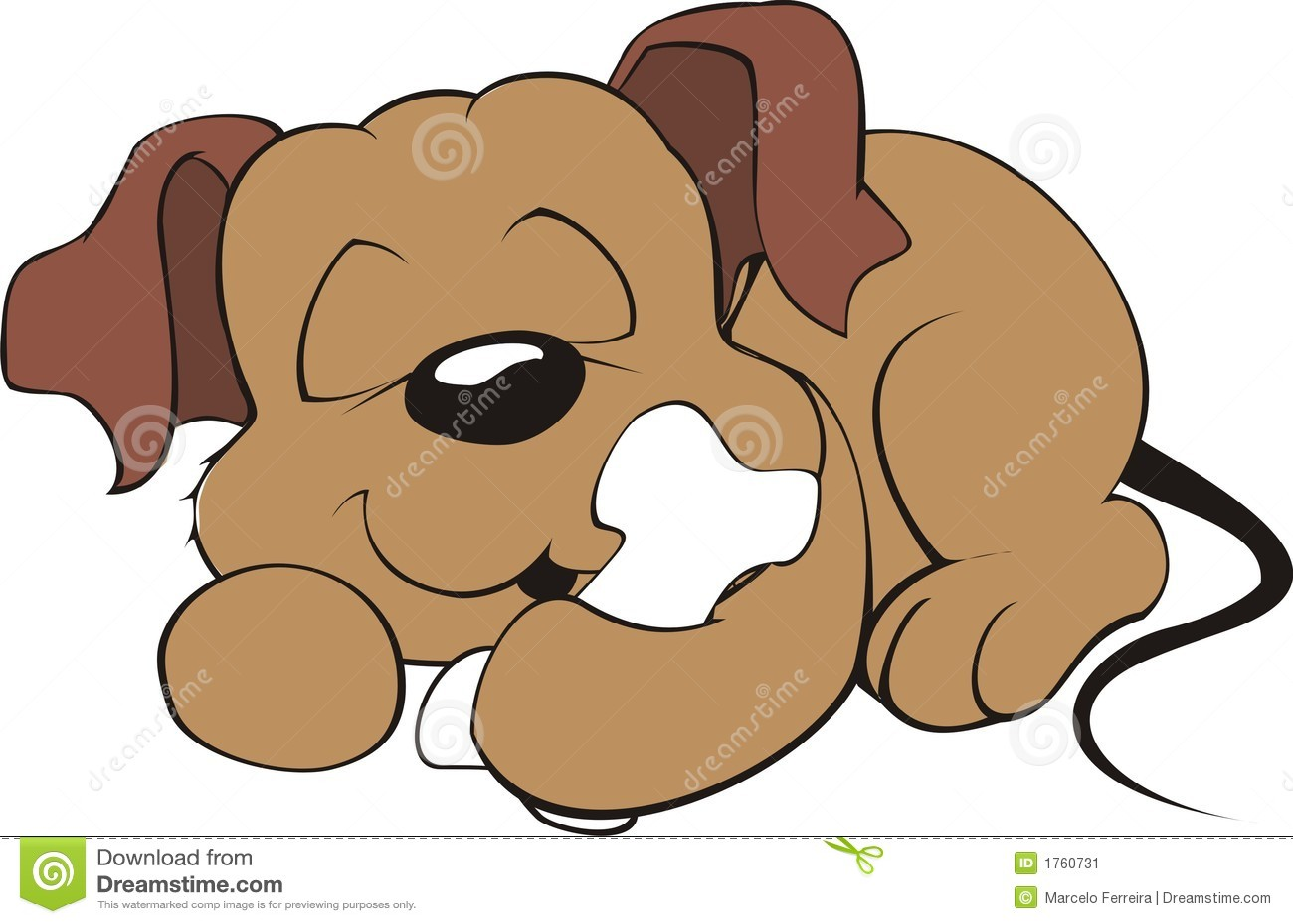 hight resolution of dog sleeping with a bone