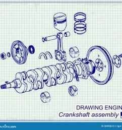 crankshaft assembly on graph paper [ 1300 x 1227 Pixel ]